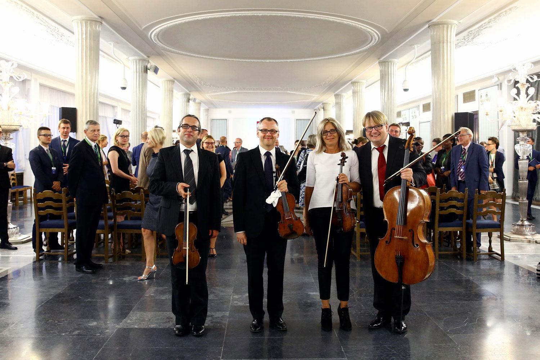 Sala kolumnowa koncert kwartet
